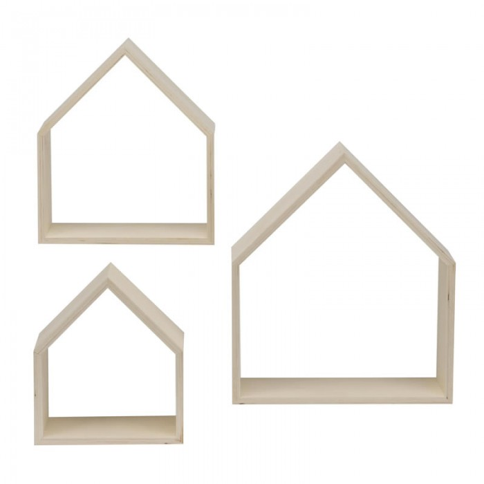 Wooden frames house, 3 pcs