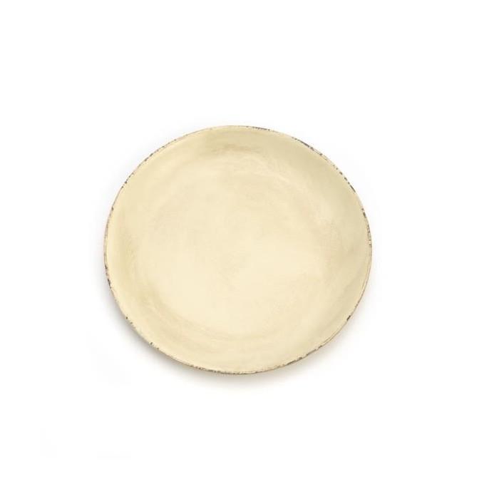 Wooden plate, Ø29cm, cream