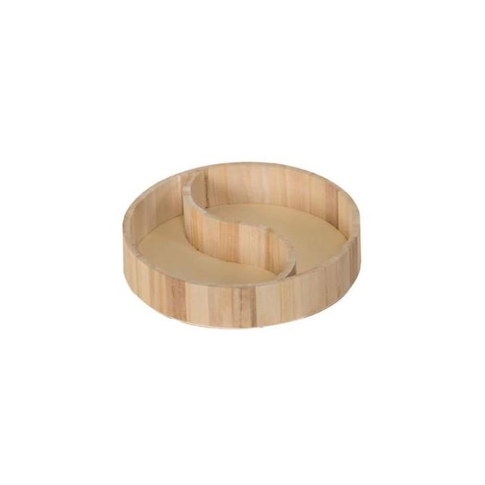 Yin-Yang wooden tray Ø 25cm