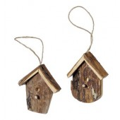 Bark bird house 6.5cm, 2 pcs