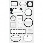 Making Memories - Journaling stickers  black / white