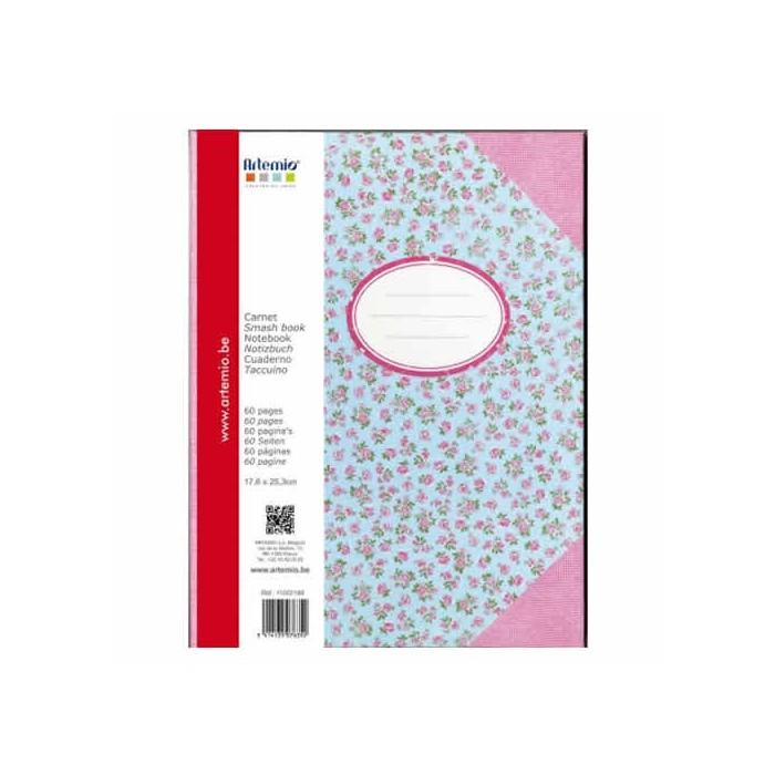 Cardboard Notebook, 17.6x25.3cm, Sweet