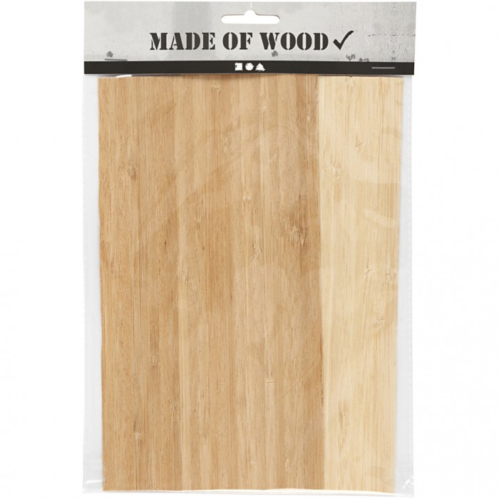 Bamboo sheet / slice, 12x22cm, 2 pcs