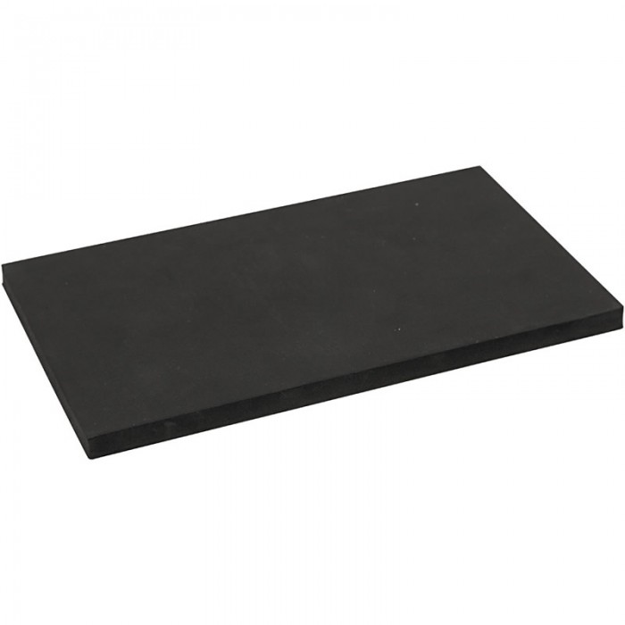 EVA Foam sheet 200x120x10mm, black, 1 pce
