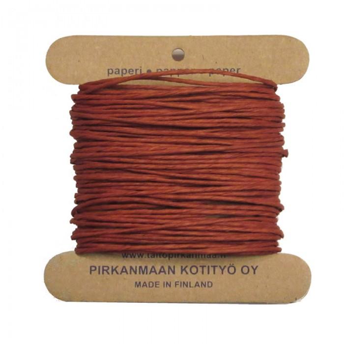 Pirkka-Paperi - Paper yarn Nm08, 15m, ginger brown