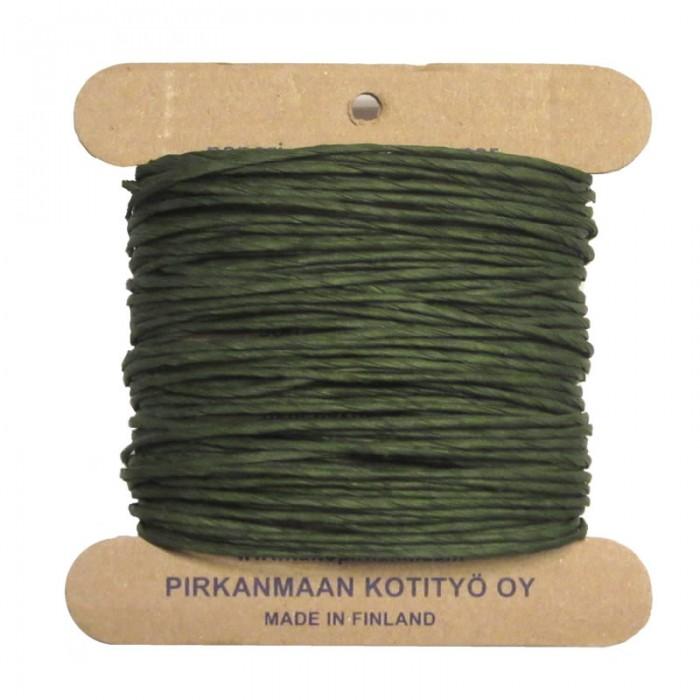 Pirkka-Paperi - Paper yarn Nm08, 15m, olive green