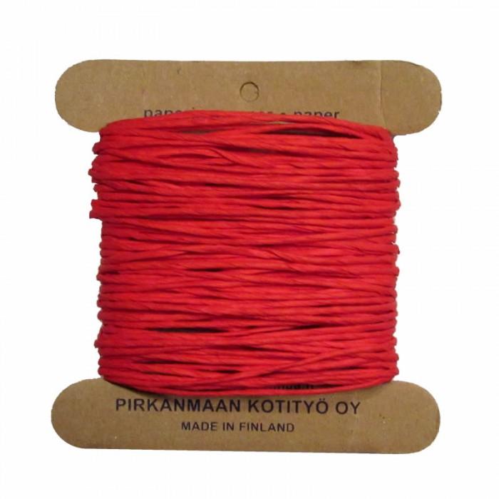 Pirkka-Paperi - Paper yarn Nm08, 15m, red