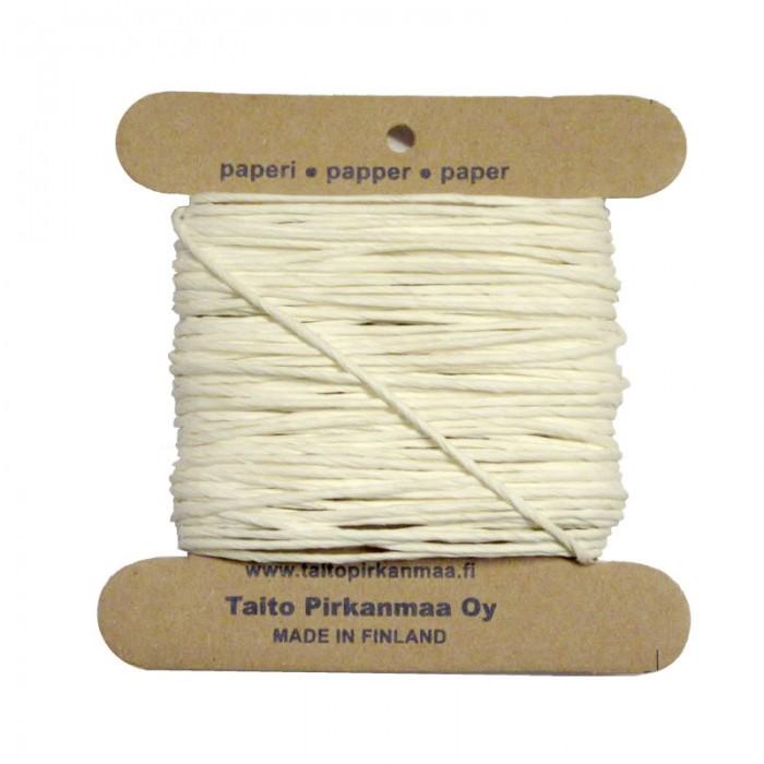 Pirkka-Paperi - Paper yarn Nm08, 15m, white