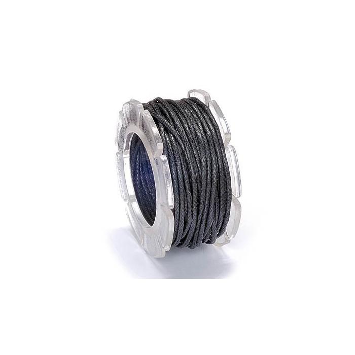 Waxed cord, Ø1mm- 5m, black