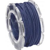Waxed cord, Ø1mm- 5m, dark blue