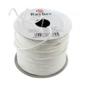 Paper wrap with wire, 2mm/25m, white