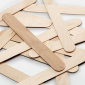 Wooden sticks 18x150mm, 100 pcs