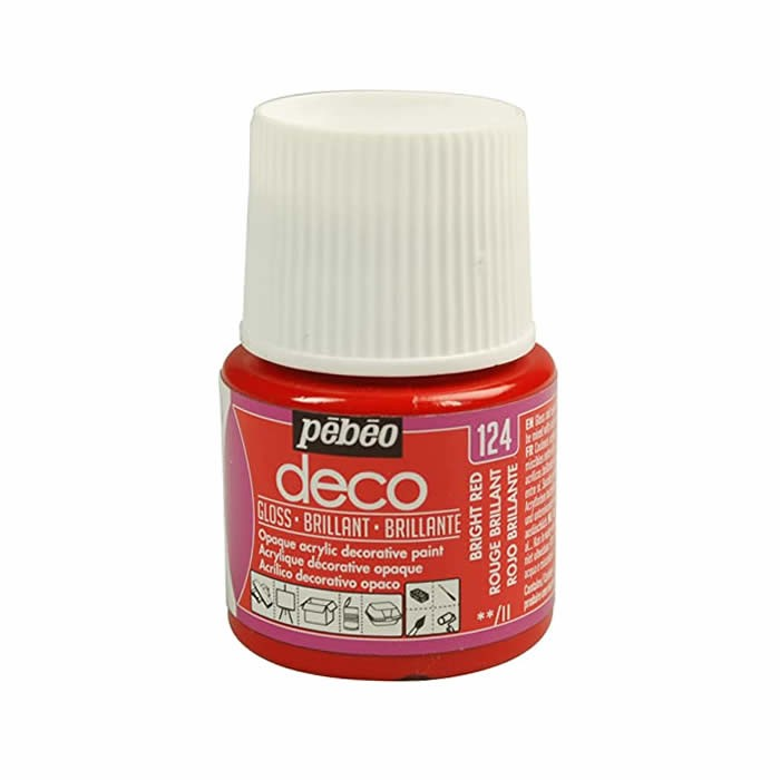 Pébo Déco glossy, bright red
