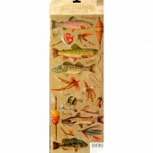 K&Company - Embossed stickers Fish & Lures