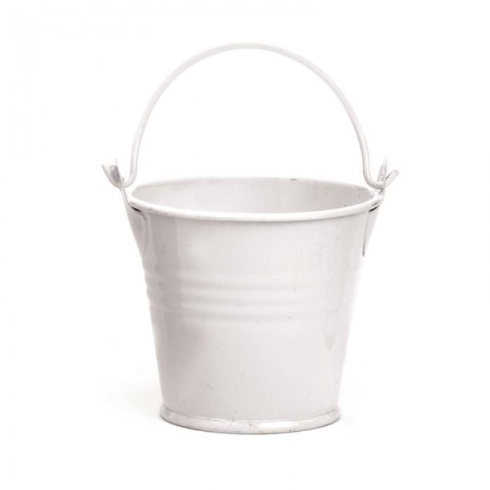 Metal Bucket 6x6cm white