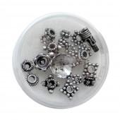 Metal beads mix, 8g