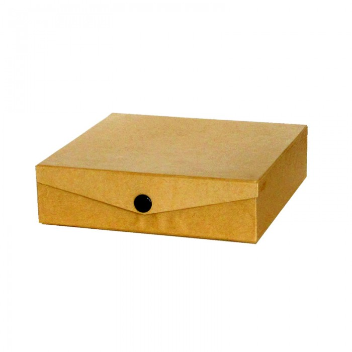 Cardboard box with snap