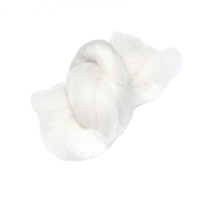 Felting wool, white