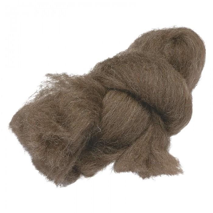 Felting wool, dark brown