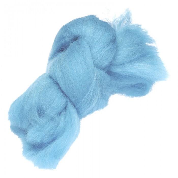 Felting wool, light blue