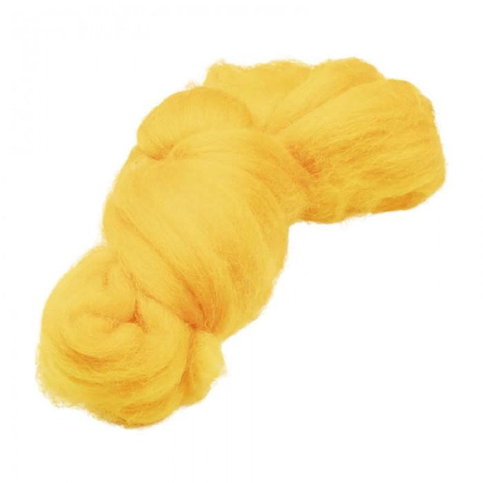 Felting wool, yellow