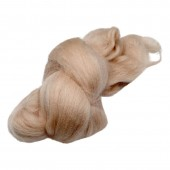 Felting wool, light brown