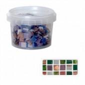 Glass mosaic tiles, Rain Forest mix