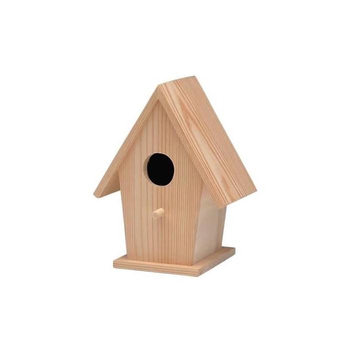 Wooden bird house 14.5x11x19cm