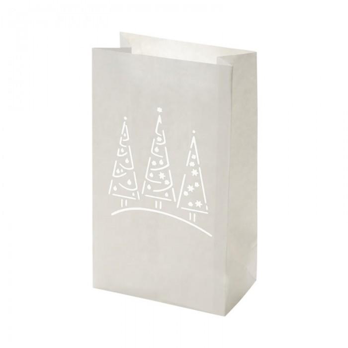 Luminaria Trees Paper lantern 26,5 x 15,5 x 9 cm, 6 pcs
