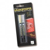 Lackmalstift silver and gold, lacquer effect pen