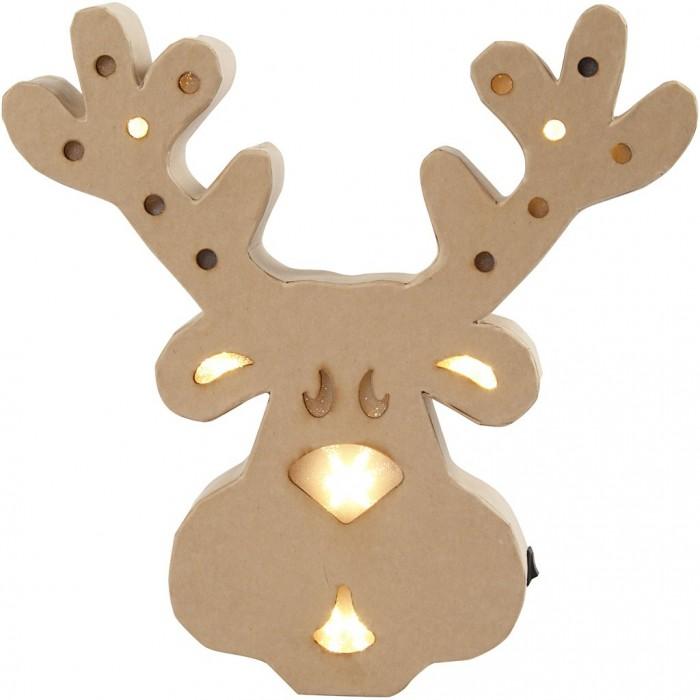 Cardboard Deer with lights, 27cm
