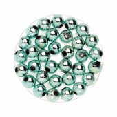 Decoration beads, 8mm, 75g, ice blue