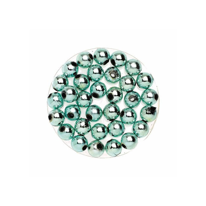 Decoration beads, 8mm, 75g, ice blue