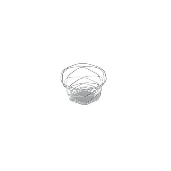 Candle holder Alu-flex 14cm, mate silver