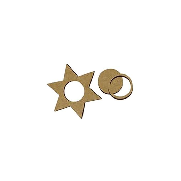 Candle holder star, 12cm