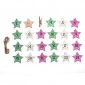 Christmas clip, stars 3.5x4.7cm, 24 pcs