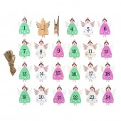 Christmas clip, angels 3.5x4.7cm, 24 pcs
