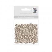 Ursus - Half pearls, Ø5mm, 100 pcs, topaz