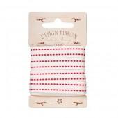 Tilda - Ribbon white/red