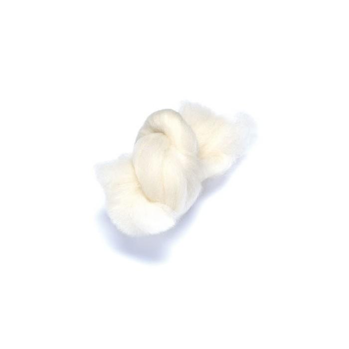 Sheep's felting wool, white