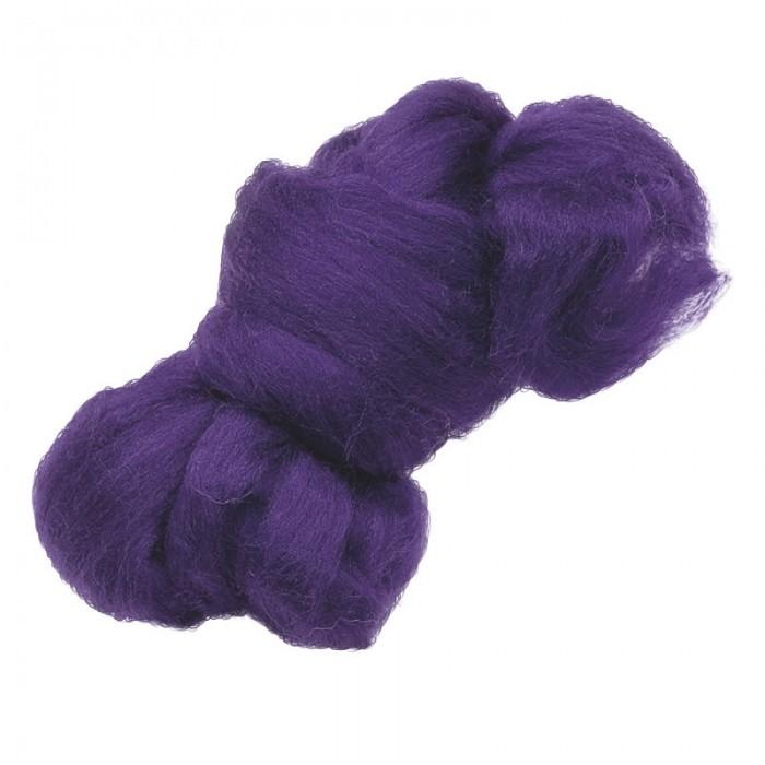 Felting wool, purple