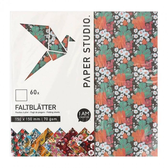 Origami Paper, 15x15cm, 60 assorted sheets