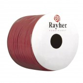 Paper wrap with wire, 2mm/25m, red