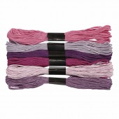 Cotton thread, 6x8m purple