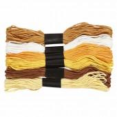 Cotton thread, 6x8m gold