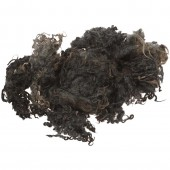 Curly wool, grey, 100g