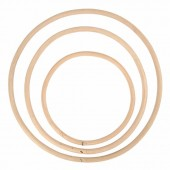 Bamboo loops Ø15/20/25cm, 3 pcs