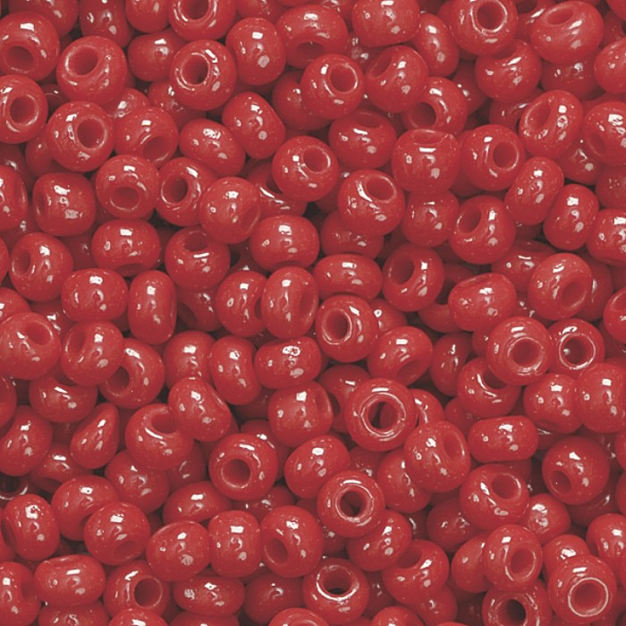 Rocailles 2.5mm, opaque red 20g
