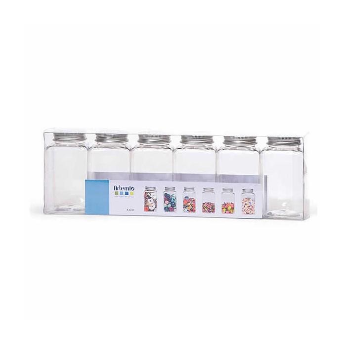 Artemio - Plastic bottles 9x4.5cm, 6 pcs