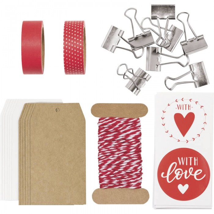 Nice Present Set 15 x 15 x 2 cm red